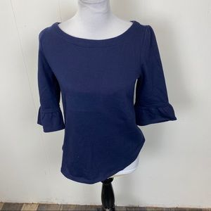 ModCloth Navy Blue Pullover with Tie in Back